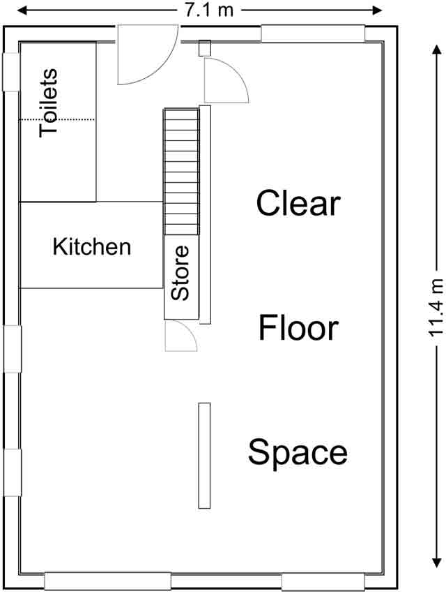 Bretton Hall Office Unit 1 Floorplan